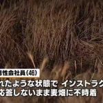 スカイダイビングをしていた男性会社員(46)が麦畑に不時着 4時間後に死亡 落下中に失神か