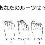 足の形で自分のルーツが分かるらしい