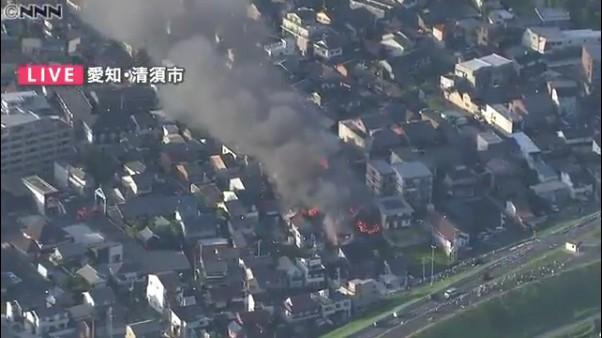 清須市の火災現場