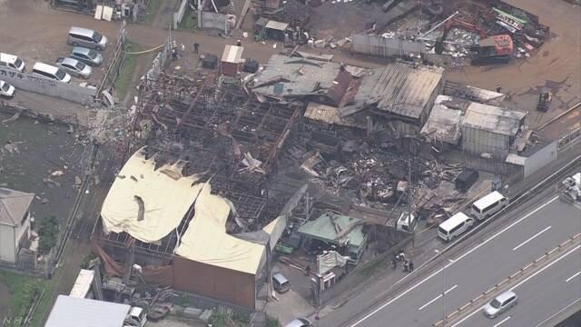 「今村産業」の倉庫でスプレー缶のガス抜き作業中に爆発2