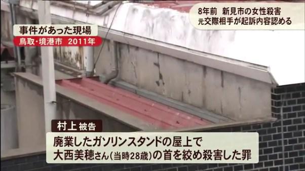 大西美穂さんがガソリンスタンドの屋上で殺害される