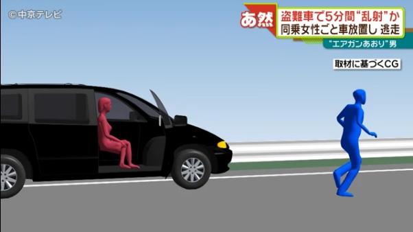警察が車を発見し話を聞こうとすると女性を残して逃走2