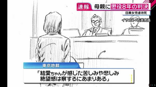 東京地裁「結愛ちゃんが感じた苦しみや悲しみ、絶望感は、察するにあまりある」