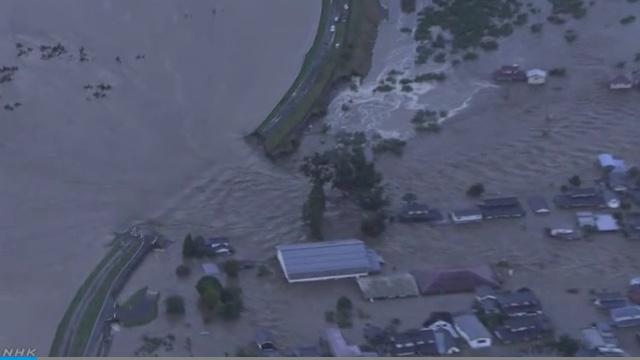 千曲川堤防決壊 大規模浸水
