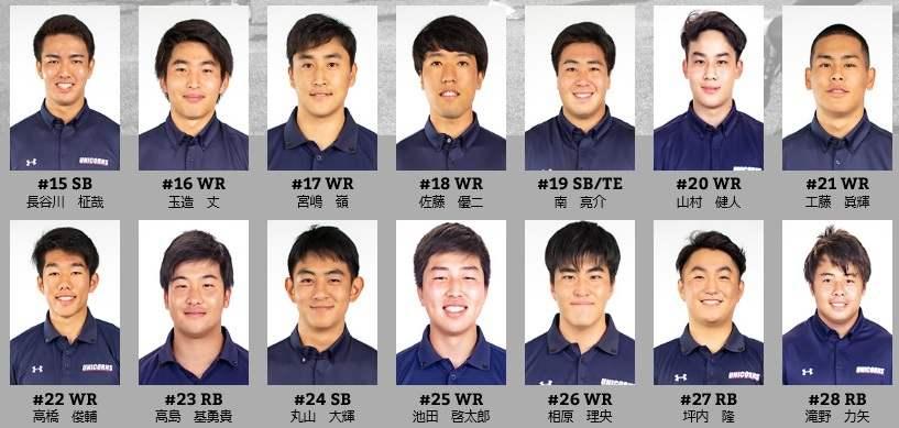 慶大アメフト部(UNICORNS)のメンバー2
