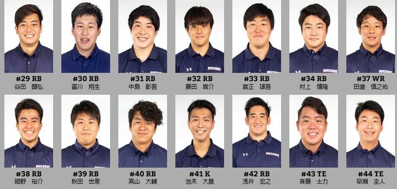 慶大アメフト部(UNICORNS)のメンバー3