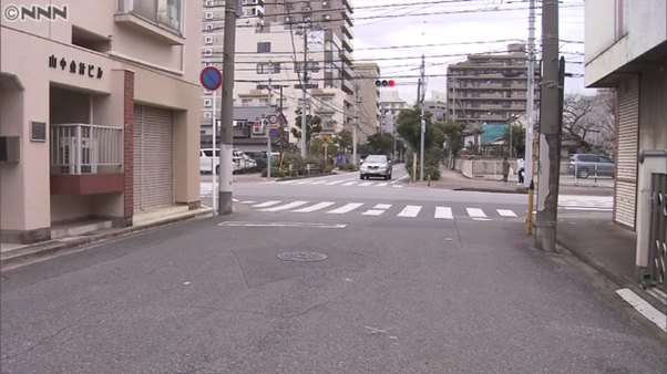 現場は千葉県千葉市中央新宿1丁目の「山中会計ビル」前の路上