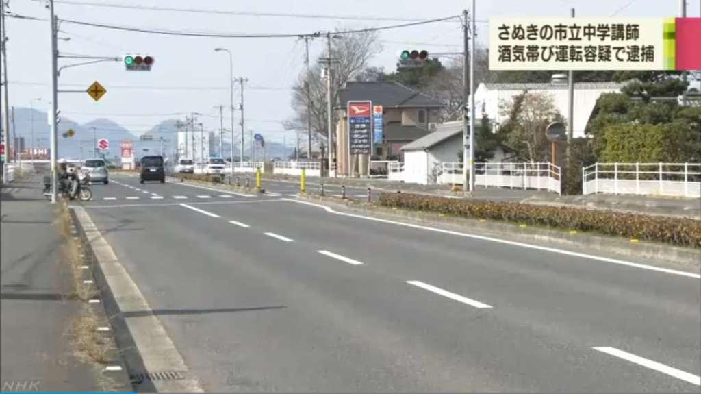 現場はさぬき市昭和の県道10号