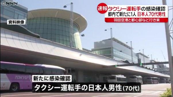 新型コロナウイルス 東京都内のタクシー運転手 感染確認