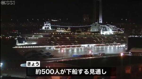 ダイヤモンド・プリンセスから500人が下船 公共交通機関を使って帰宅
