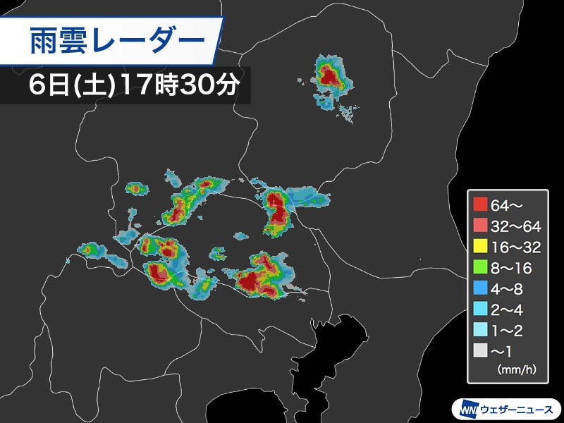 埼玉県熊谷市で10分に50mm 日本歴代1位の雨か 各地で冠水 道路が川に