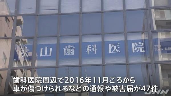 秋山歯科医院の周辺で被害届が47件