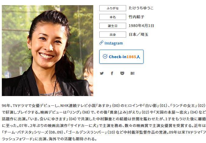 東山凛太朗(竹内恒雄)が撮影したという竹内結子の写真は映画.comからの転載