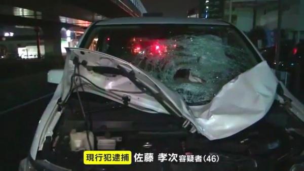 佐藤孝次容疑者(46)を逮捕 岡山市北区青江の国道2号線で近藤由輝さんと清水弥琴さんをはねて死なす