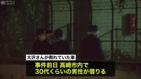川越ナンバーのレンタカーは30代くらいの男性が高崎市内で借りる