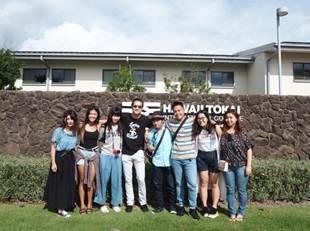 北井小由里は2018年2月12日から25日までハワイ大学に留学していた