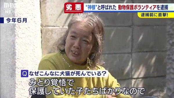 増山珠美容疑者を逮捕 八幡市男山長沢の自宅で多頭飼育崩壊 犬や猫52匹の死骸 「犬神様」と呼ばれていた
