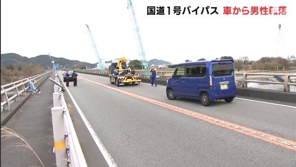 現場は島田市島の国道1号バイパス新大井川橋