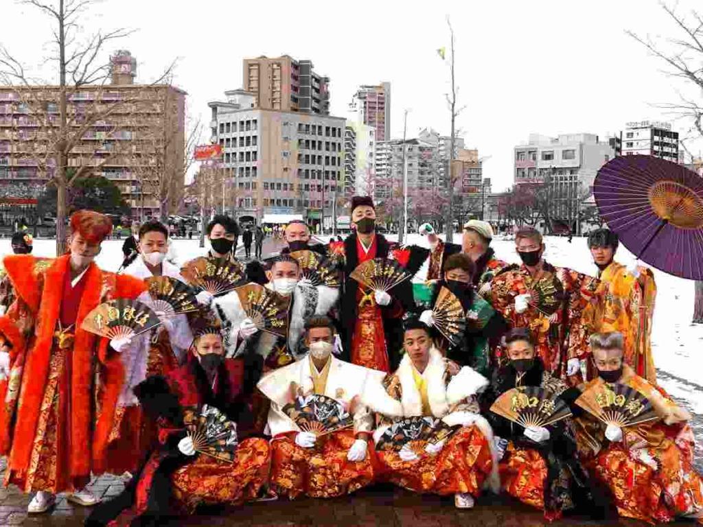 北九州市の成人式の様子