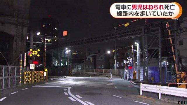 現場はJR宇都宮線の尾久駅と赤羽駅の間の線路