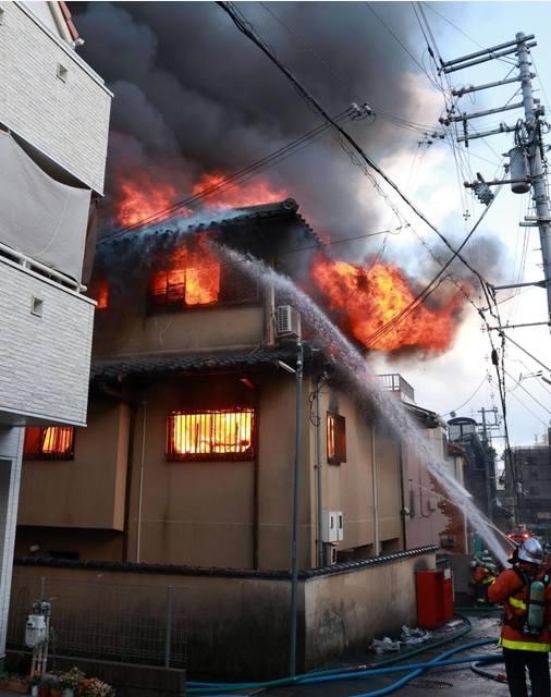 神戸市東灘区本山北町3丁目の「常永寺」で火災 72歳男性が全身火傷 Twitterに現地の様子