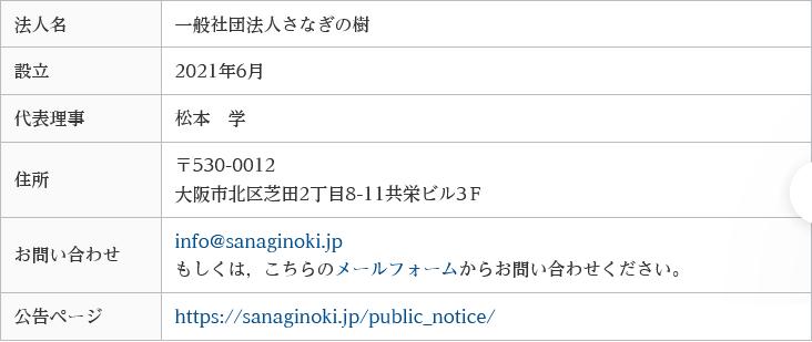 松本学は性犯罪更生団体の一般社団法人「さなぎの樹」の代表