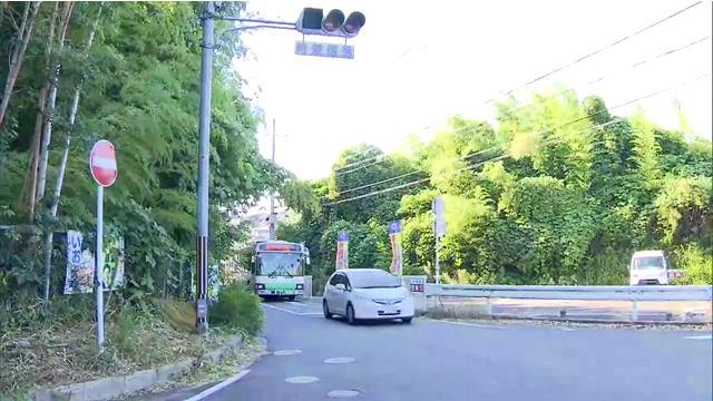 現場は奈良市中町の第二阪奈道路そばの雑木林