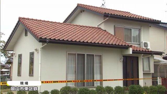 現場は岡山市東区鉄の井上薫さんの住宅