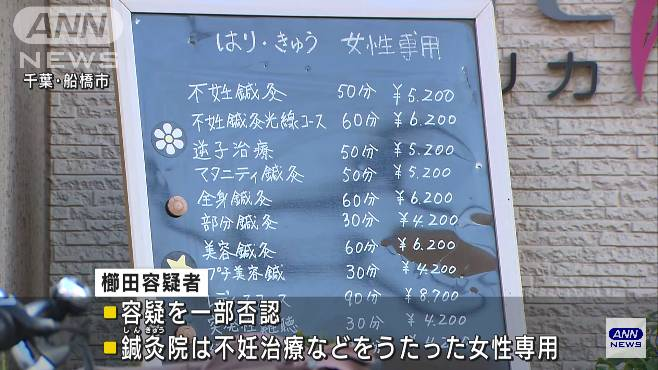 櫛田昇容疑者は容疑を一部否認