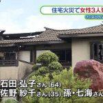 千葉県旭市の民家火災で3人死亡 石田智さん(65)「寝たばこをしていた」