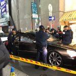 大阪・心斎橋で車暴走、パトカーに衝突 買い物客ら騒然