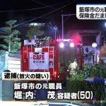 保険金目的自分の空き家に放火した元福岡県飯塚市職員の無職堀内茂容疑者(50)を逮捕