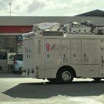 関テレが被災地のガソリンスタンドで割り込んで給油したらしい